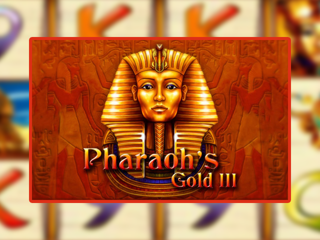 Игровой слот-автомат Pharaoh's Gold III в залах Вулкан